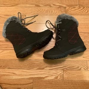 New Girls Ice Maiden Lace II Snow Boots Black